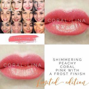 Coral-lina limited edition lipsense color
